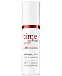 Philosophy Time In A Bottle For Eyes 100 In Control Repair Renew Resist Serum No Color