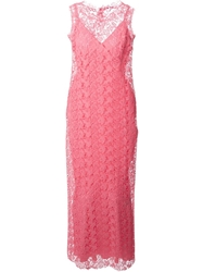 Ermanno Scervino Crocheted Maxi Dress Pink And Purple