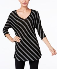 Inc International Concepts Striped Tunic Only At Macy's Heather Grey