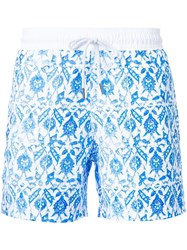 Venroy Turkish Tile Print Swim Shorts White