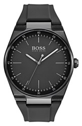 Boss Magnitude Rubber Strap Watch 42Mm Black Black
