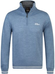 Oscar Jacobson Brock Tour Half Zip Jumper Dusk