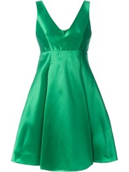 P.A.R.O.S.H. Flared Pleated Dress Green