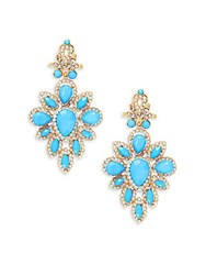 Cara Cz Chandelier Earrings Turquoise