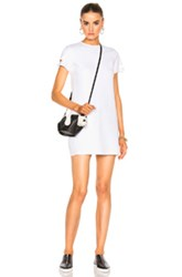 Helmut Lang Detachable Cuff Dress In White