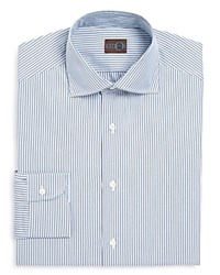 Eidos Pinstripe Slim Fit Dress Shirt Light Blue