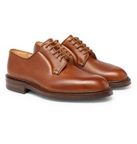 George Cleverley Archie Full Grain Leather Derby Shoes Tan