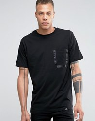 Cheap Monday Strange T Shirt Tuxedo Stripe Pocket Black