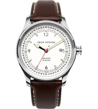 Jack Mason Jm N101 004 Nautical Stainless Steel And Leather Watch
