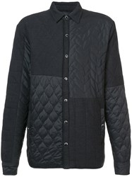 Mostly Heard Rarely Seen Quilted Shirt Jacket Cotton Nylon Xl Black
