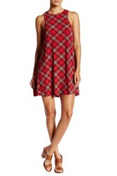 Angie Racerback Plaid Swing Dress Red