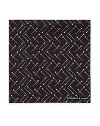 Turnbull And Asser Sewing Pin Pocket Square Black