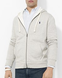 Polo Ralph Lauren Classic Full Zip Fleece Hoodie Light Heather Grey