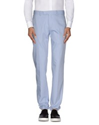 Armani Collezioni Trousers Casual Trousers Men Sky Blue