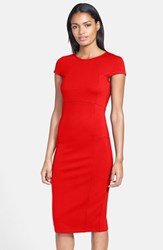 Petite Women's Felicity And Coco Seamed Pencil Dress Tango Red