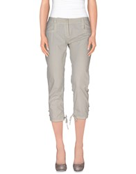 Ermanno Scervino Trousers 3 4 Length Trousers Women Light Grey