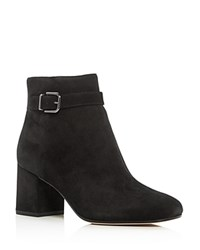 Via Spiga Maxine Block Heel Booties Black