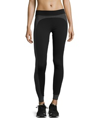 Solow Side Panel Leggings Black Gray