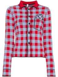 Adam Selman Gingham Slim Fit Shirt Red