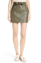 Rebecca Taylor Women's Tumbled Leather Skirt