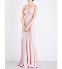 Ghost Pearl Satin Dress Boudoir Pink