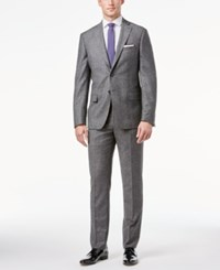 Dkny Men's Gray Donegal Slim Fit Suit
