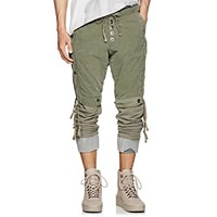 Greg Lauren Layered Cotton Lounge Pants Olive
