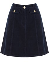 Oasis Cord Pocket Mini Skirt Navy