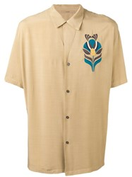 Nuur Embroidered Figure Shirt Nude Neutrals