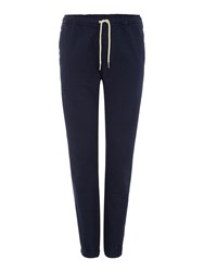 Soulland Cuffed Drawstring Tracksuit Bottoms Navy