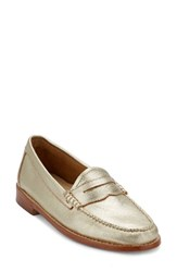 G.H. Bass Women's And Co. 'Whitney' Loafer Gold Leather