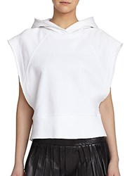 Rag And Bone Roni Short Sleeve Cotton Hoodie Bright White