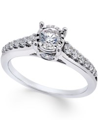 Trumiracle Diamond 3 4 Ct. T.W. Engagement Ring In 14K White Gold No Color