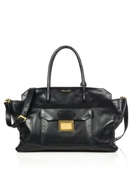 Miu Miu Small East West Double Handle Satchel Nero Black