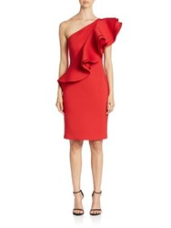 Nero By Jatin Varma Solid Asymmetrical Dress Red