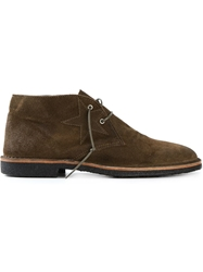 Golden Goose Deluxe Brand Lace Up Boots Brown