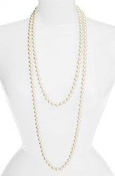 Women's Cristabelle Faux Pearl Long Strand Necklace