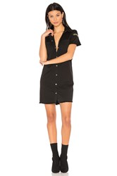 Etienne Marcel Denim Button Up Dress Black