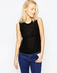 Brave Soul Cropped Sweater With Side Zips Black