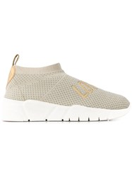 Love Moschino Slip On Sneakers Neutrals