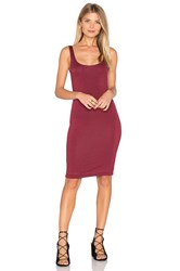 Blq Basiq Back Slit Tank Midi Dress Burgundy
