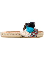 Etro Woven Tassel Sliders Multicolour