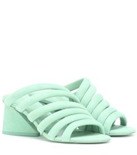 Mercedes Castillo Izzie Mid Suede Sandals Green