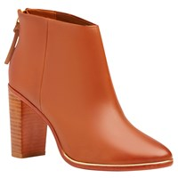 Ted Baker Lorca Block Heeled Ankle Boots Tan