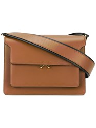 Marni Trunk Shoulder Bag Women Calf Leather One Size Brown