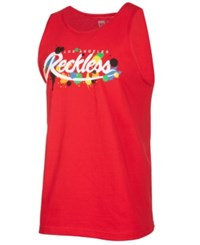 Young And Reckless Franz Logo Print Tank Red