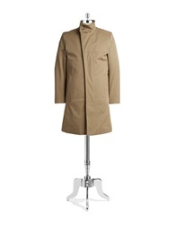Tiger Of Sweden Cotton Trench Coat Tan