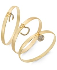 Inc International Concepts Gold Tone 3 Pc. Wishbone Bangle Set Only At Macy's