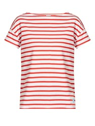 Orcival Breton Striped Cotton T Shirt Red White