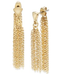 Thalia Sodi Gold Tone Chain Front Back Drop Earrings Only At Macy's